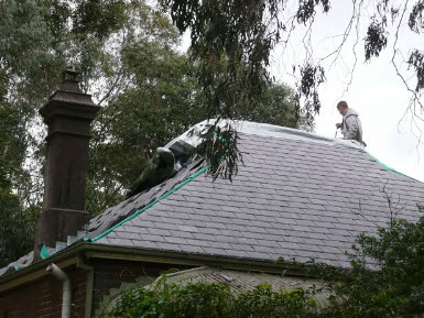slate roof replacement after
